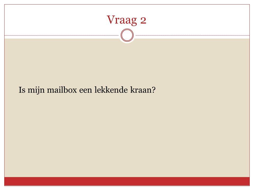 Vraag 2 Is mijn mailbox een lekkende kraan?