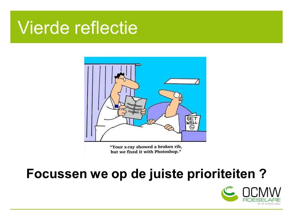 Vierde reflectie Focussen we op de juiste prioriteiten ?