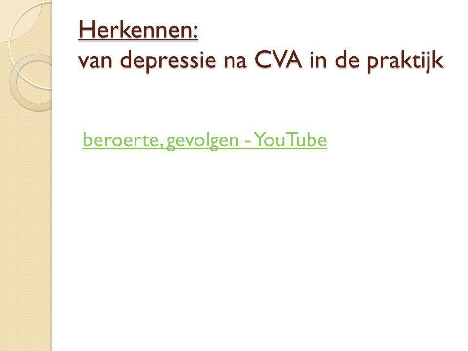 Herkennen: van depressie na CVA in de praktijk beroerte, gevolgen - YouTube