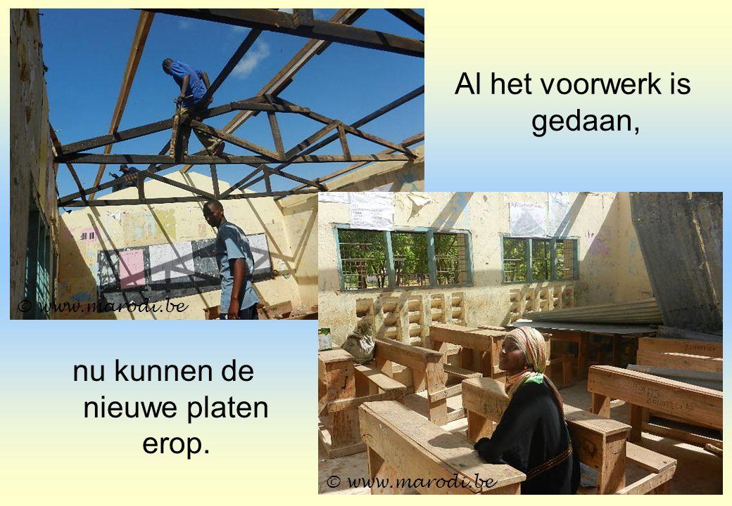 nu kunnen de nieuwe platen erop. Al het voorwerk is gedaan, © www.marodi.be