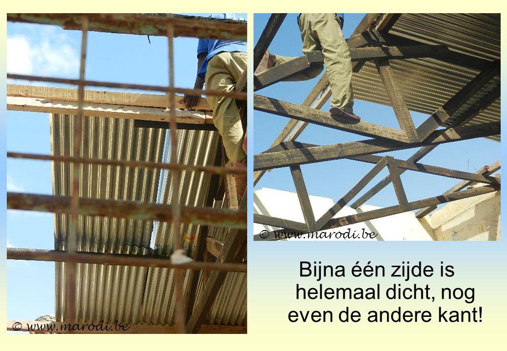 Bijna één zijde is helemaal dicht, nog even de andere kant! © www.marodi.be