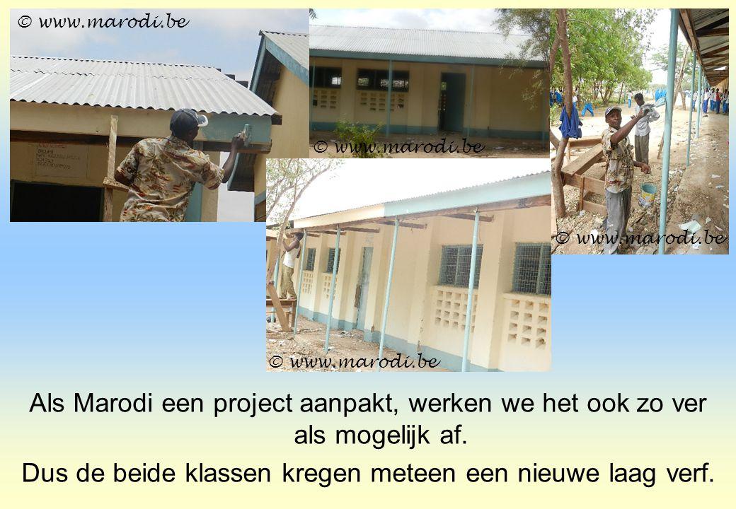 Als Marodi een project aanpakt, werken we het ook zo ver als mogelijk af. Dus de beide klassen kregen meteen een nieuwe laag verf. © www.marodi.be