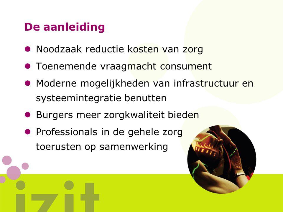zorgaanbieders Twente / Oost-Achterhoek ledenvergadering icZt dagelijks bestuur icZt IZIT programma programmadirectie leden icZt Vereniging icZt Programma IZIT project