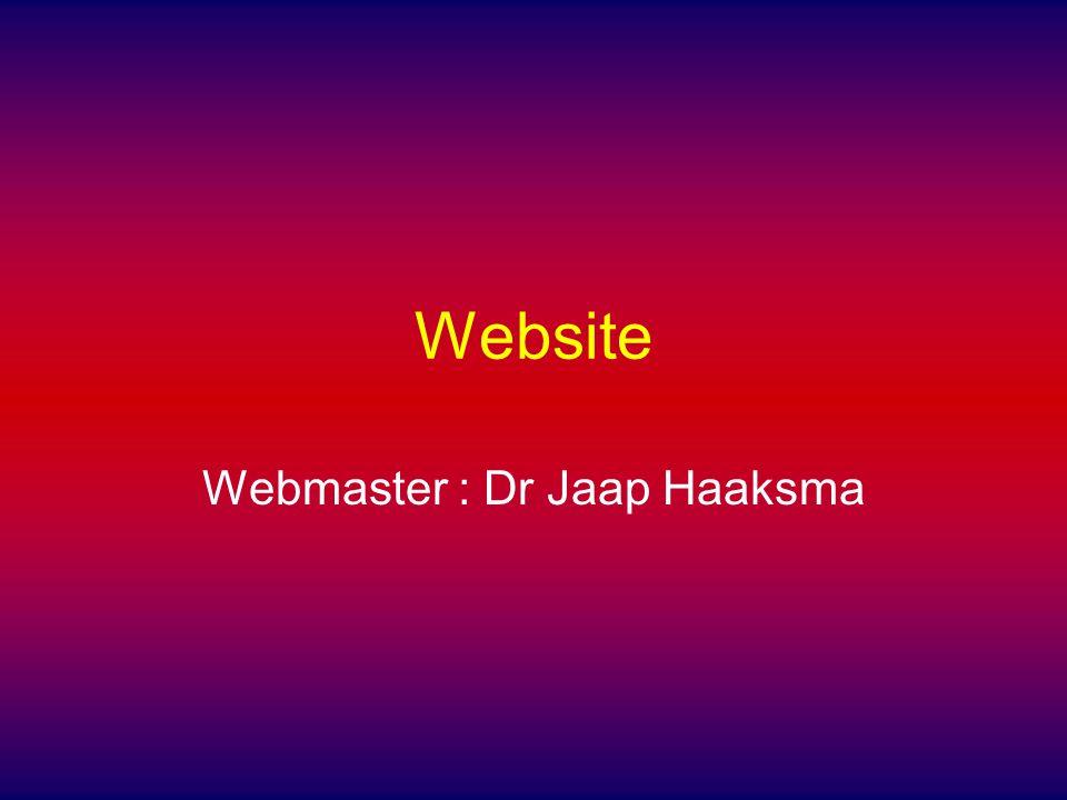 Website Webmaster : Dr Jaap Haaksma