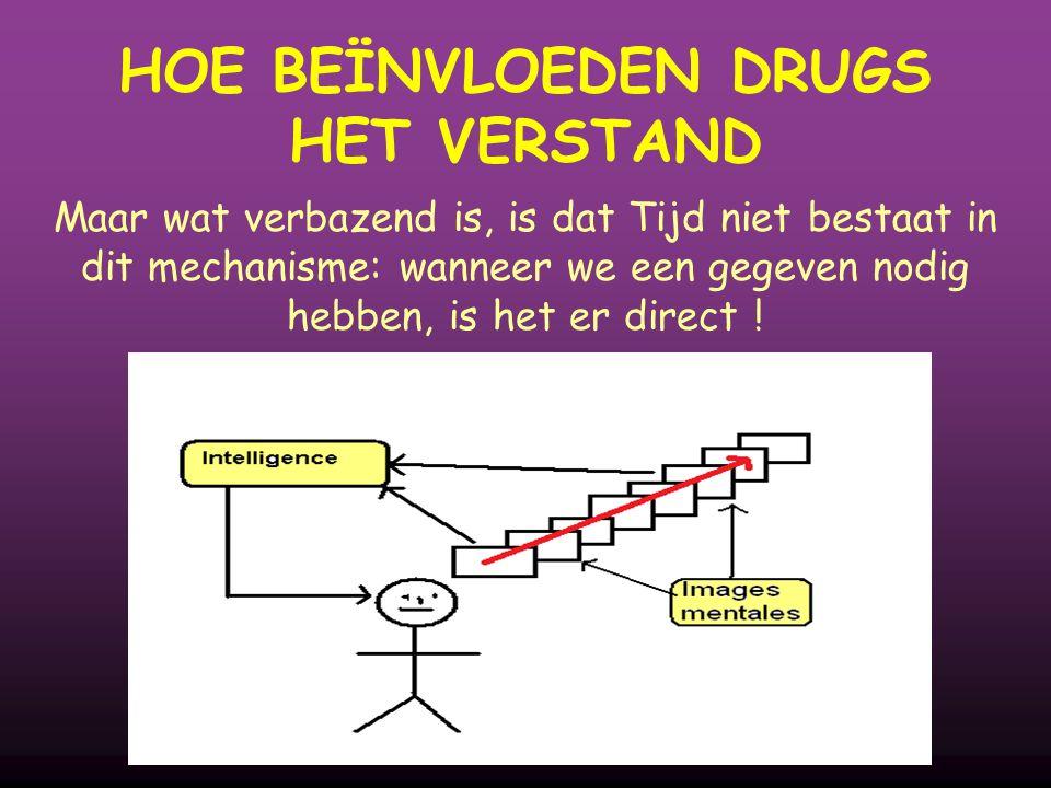 Maar wat verbazend is, is dat Tijd niet bestaat in dit mechanisme: wanneer we een gegeven nodig hebben, is het er direct ! HOE BEÏNVLOEDEN DRUGS HET V