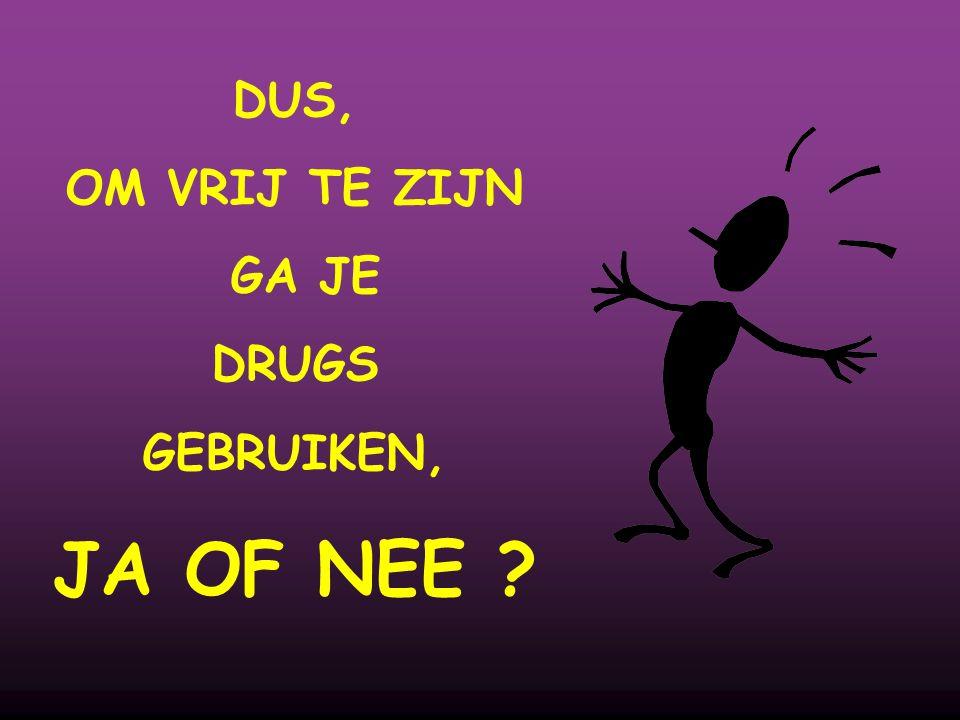 DUS, OM VRIJ TE ZIJN GA JE DRUGS GEBRUIKEN, JA OF NEE ?