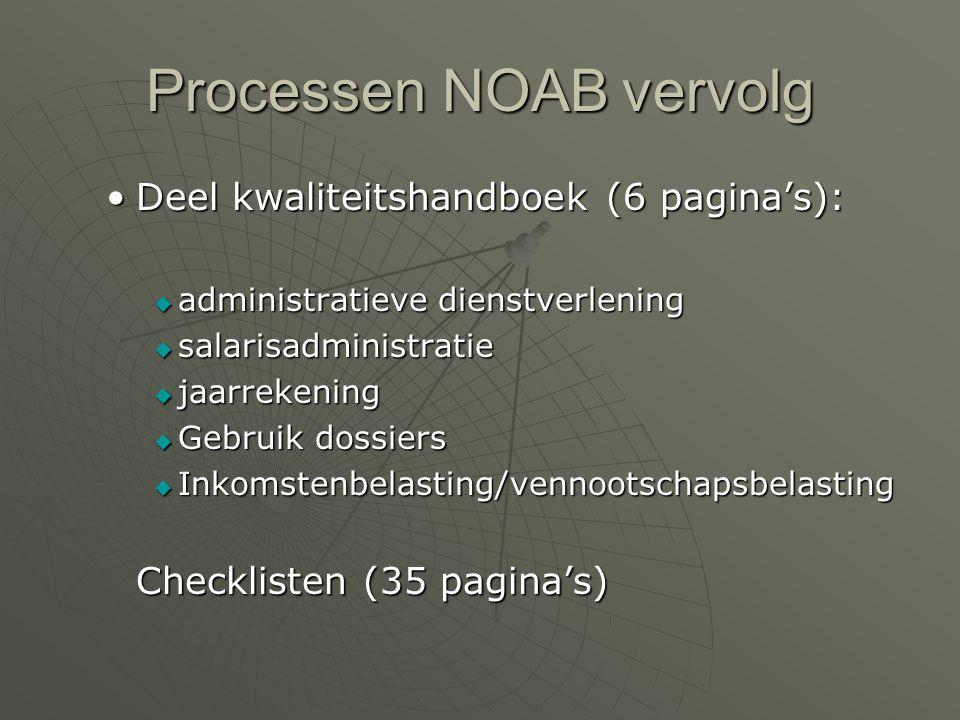 NOAB en HT  Processen en werkwijze NOAB: werkwijze Deel kantoorhandboek (3 pagina's):Deel kantoorhandboek (3 pagina's):  Dossier review  Interne kw