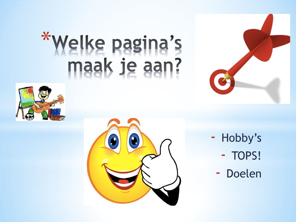 - Hobby's - TOPS! - Doelen