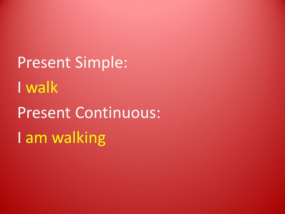 De present simple gebruiken we om aan te geven, dat iets een gewoonte is.
