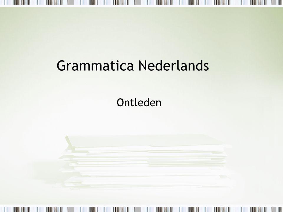 Grammatica Nederlands Ontleden