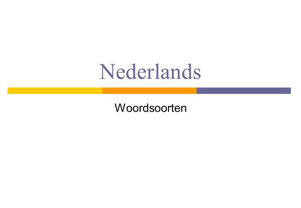 Nederlands Woordsoorten