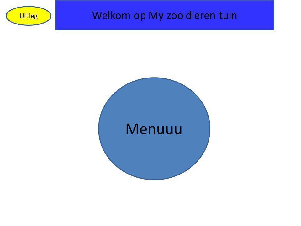 Welkom op My zoo dieren tuin Uitleg Menuuu