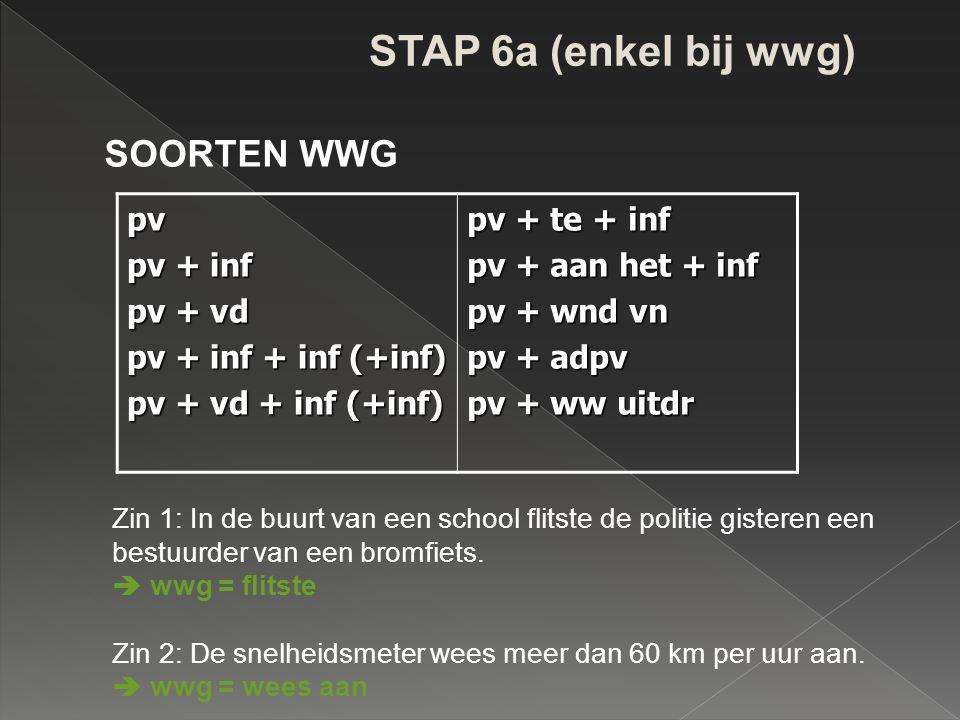 STAP 6b (enkel bij nwg) WAT / HOE + werkwoord(en) + o.