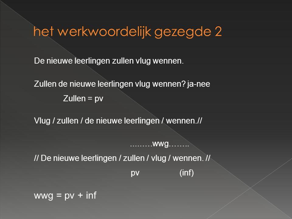 Alle volgende zinsdelen (stap 7 t.e.m.stap 11) zijn MOET-delen: d.w.z.