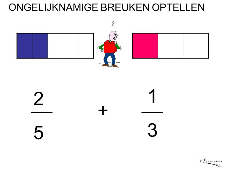 2525 1313 + ONGELIJKNAMIGE BREUKEN OPTELLEN