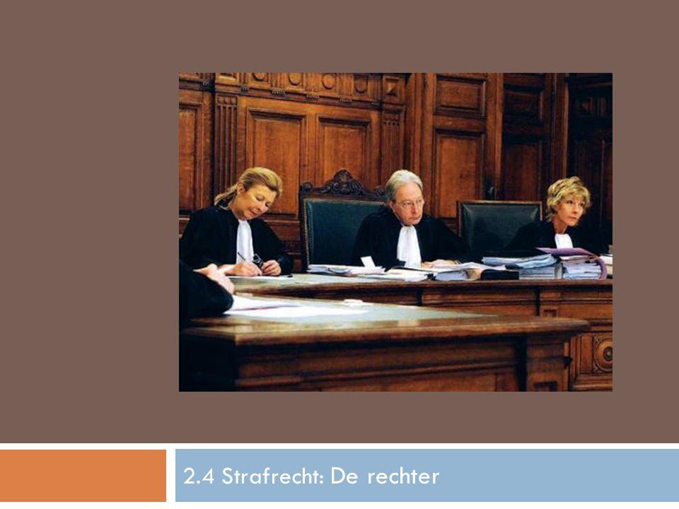 2.4 Strafrecht: De rechter