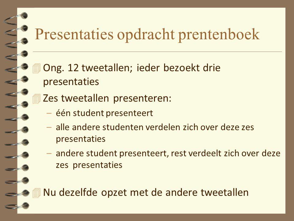 Presentaties opdracht prentenboek 4 Ong.