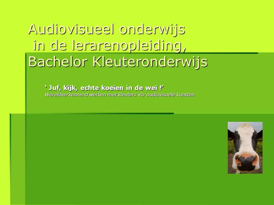 Audiovisueel onderwijs in de lerarenopleiding, Bachelor Kleuteronderwijs ' Juf, kijk, echte koeien in de wei !' Wereldverkennend werken met kleuters v