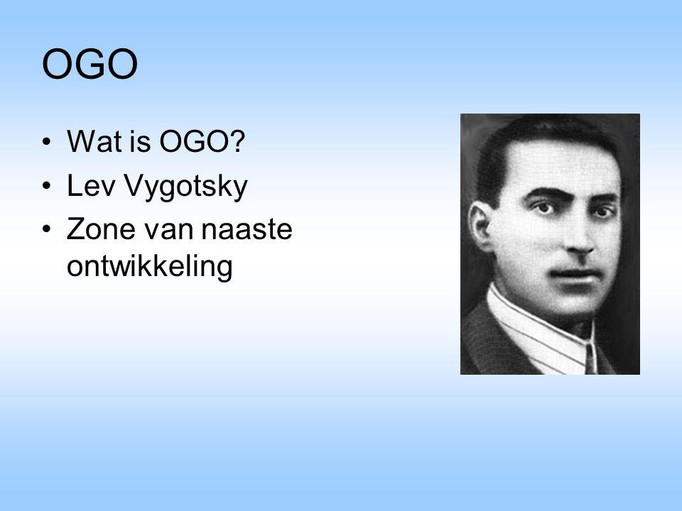 OGO Wat is OGO? Lev Vygotsky Zone van naaste ontwikkeling
