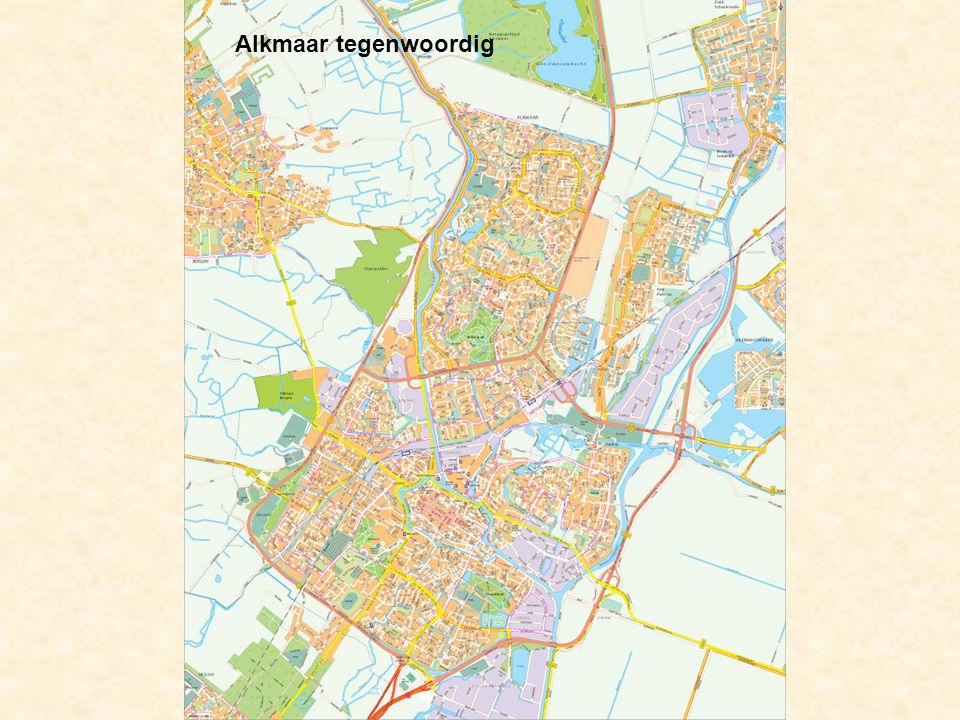 De stad groeit tegen de dorpen Ouddorp, Koedijk en Sint-Pancras aan. Alkmaar tegenwoordig