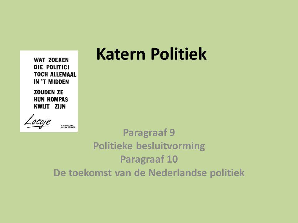 Katern Politiek Paragraaf 9 Politieke besluitvorming Paragraaf 10 De toekomst van de Nederlandse politiek