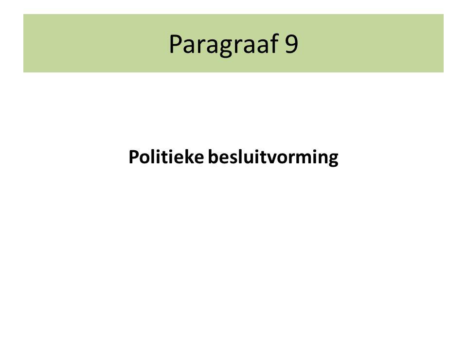 Paragraaf 9 Politieke besluitvorming