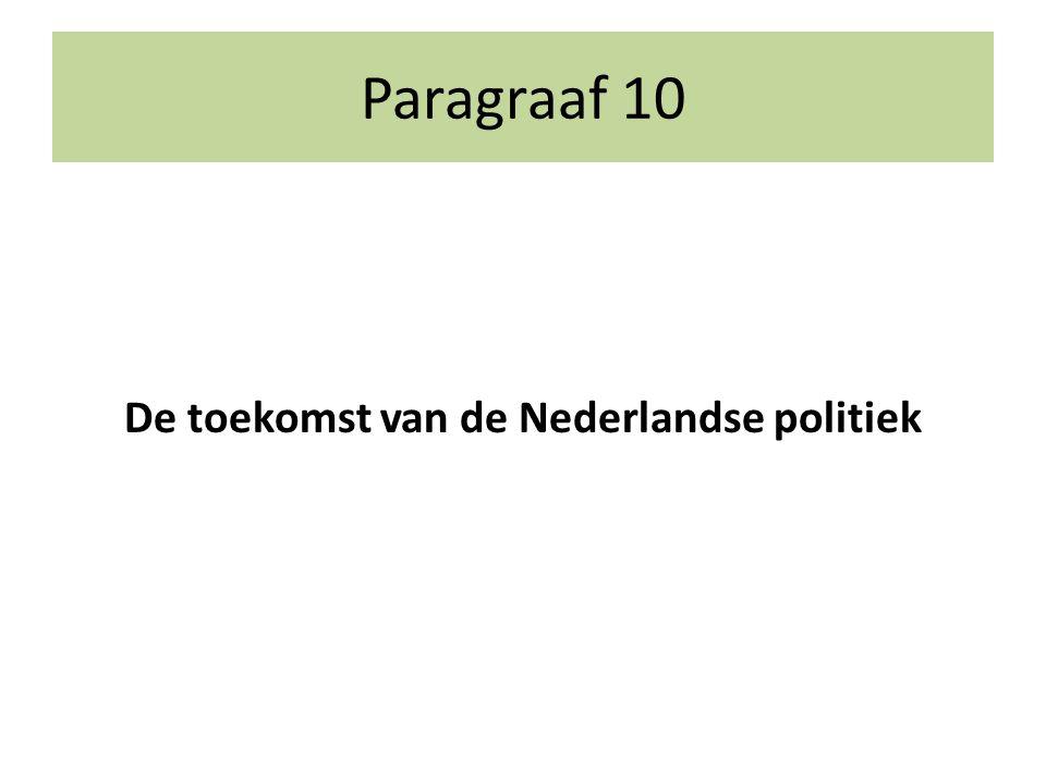 Paragraaf 10 De toekomst van de Nederlandse politiek