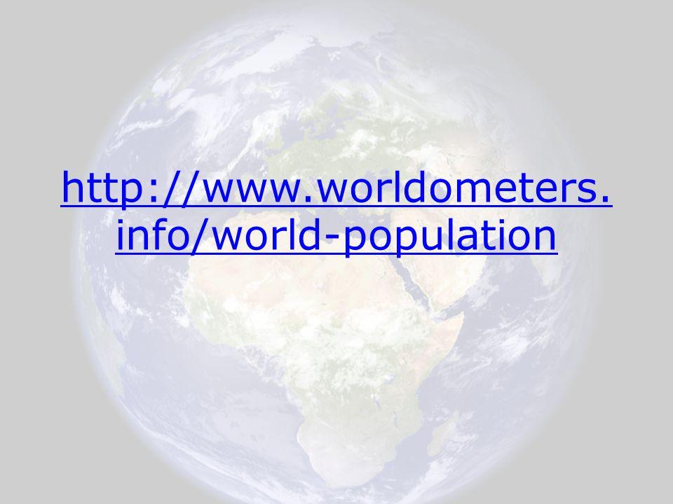 http://www.worldometers. info/world-population