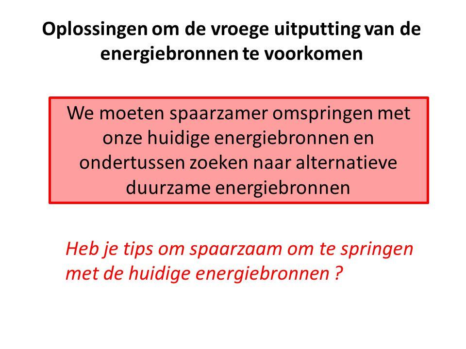 Alternatieve energiebronnen WATERKRACHT ZONNE-ENERGIE WINDKRACHT