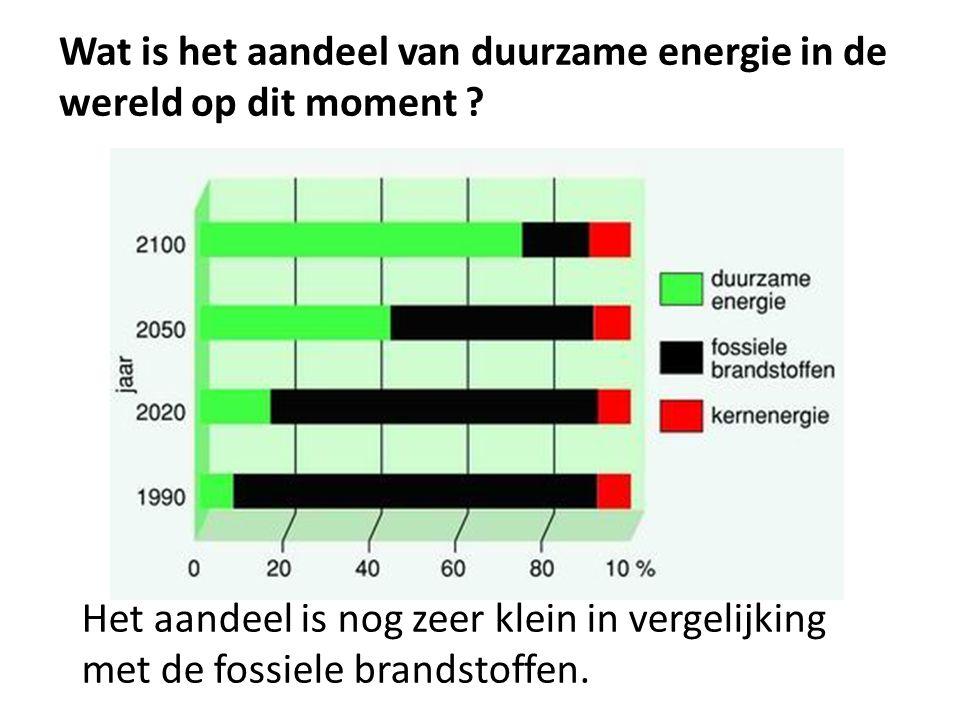 Wat is het aandeel van duurzame energie in de wereld op dit moment .
