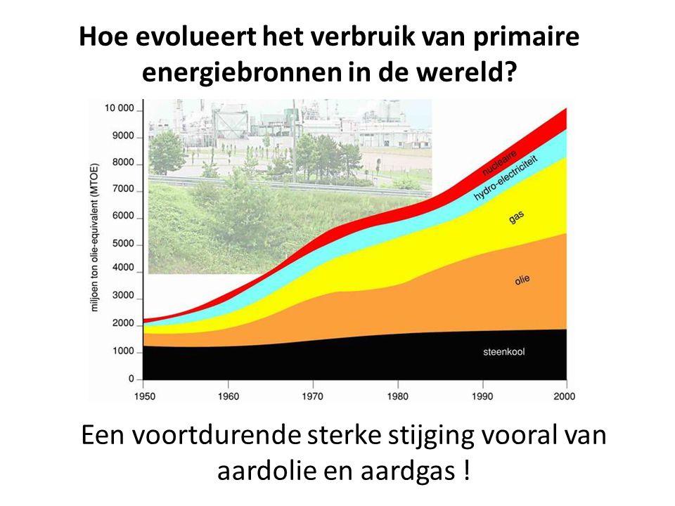 Hoe evolueert het verbruik van primaire energiebronnen in de wereld? Een voortdurende sterke stijging vooral van aardolie en aardgas !