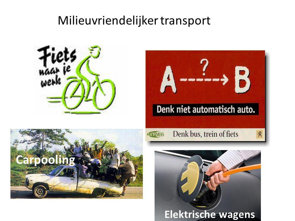 Carpooling Milieuvriendelijker transport Elektrische wagens