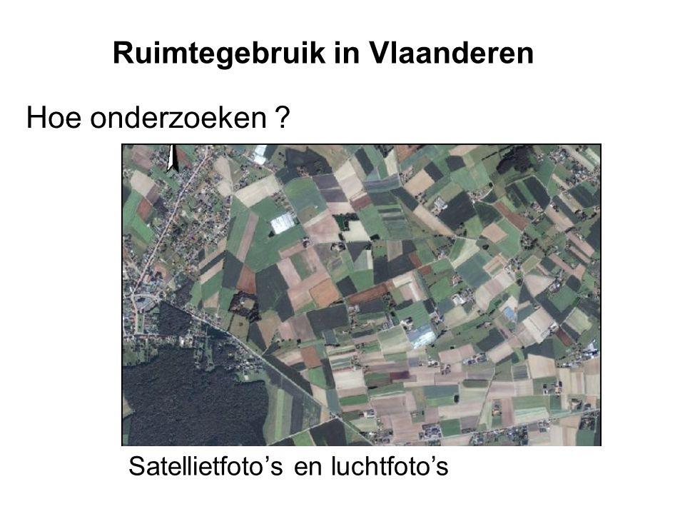 Ruimtegebruik in Vlaanderen Hoe onderzoeken ? Satellietfoto's en luchtfoto's
