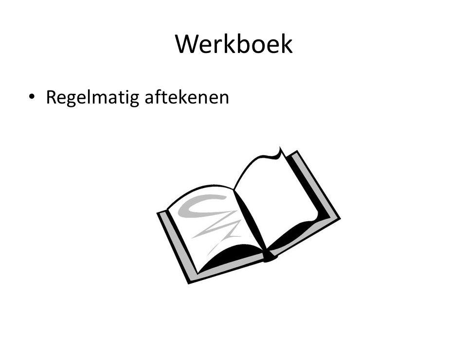 Werkboek Regelmatig aftekenen