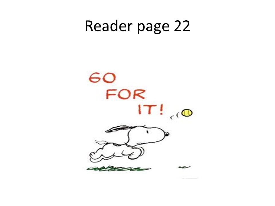Reader page 22