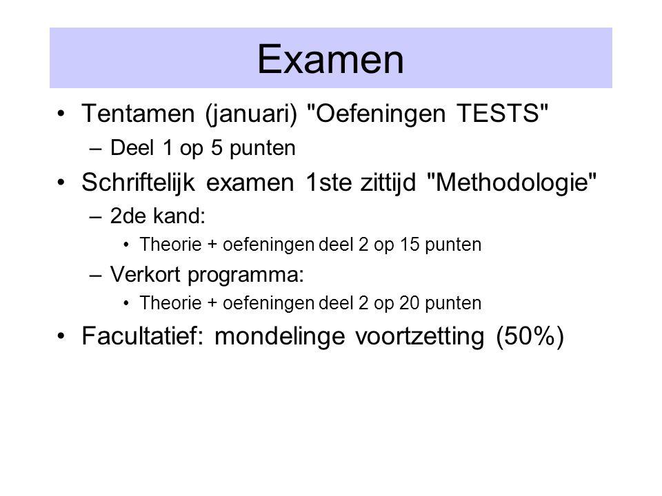 Examen Tentamen (januari)