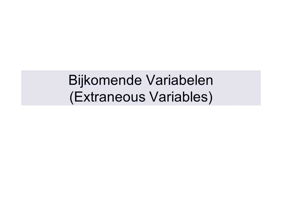 Bijkomende Variabelen (Extraneous Variables)