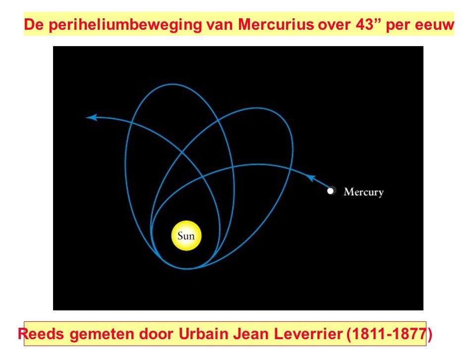 """De periheliumbeweging van Mercurius over 43"""" per eeuw Reeds gemeten door Urbain Jean Leverrier (1811-1877)"""