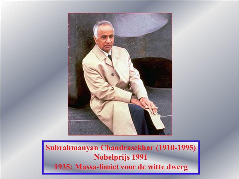 Hans Bethe (1906) Nobelprijs 1967 1938: Sterren halen hun energie uit kernfusiereacties Met Carl Friedrich von Weizsacker