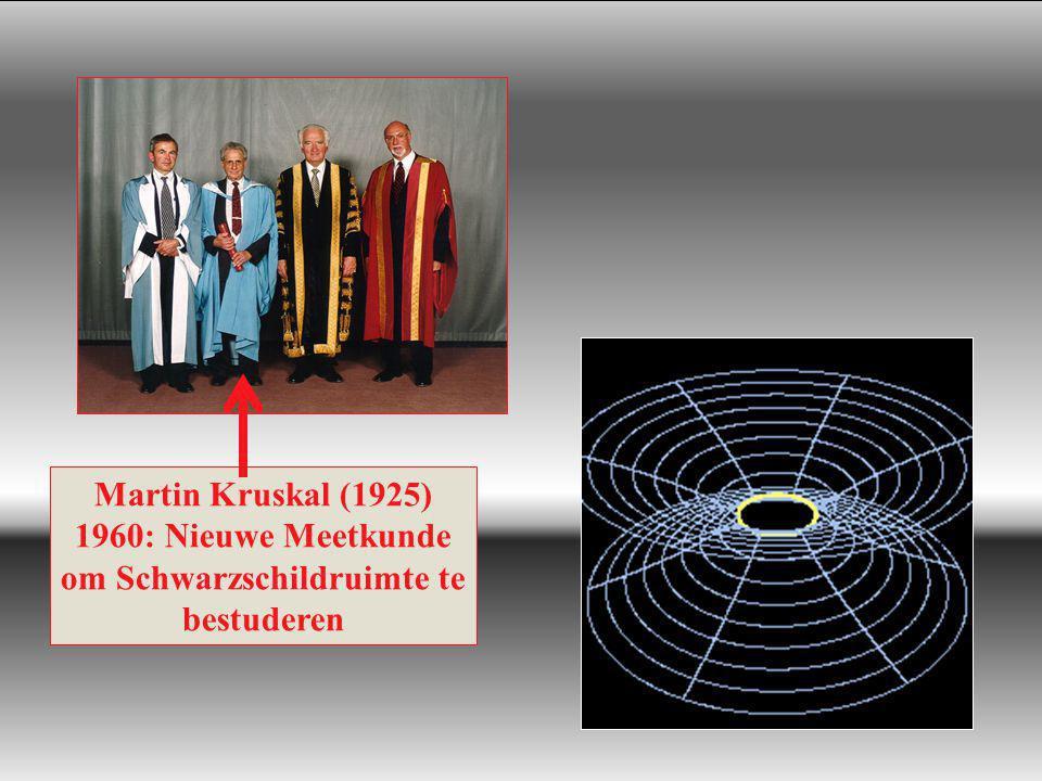 Roger Penrose (1931) 1964: Zwarte gaten omvatten een wiskundige singulariteit