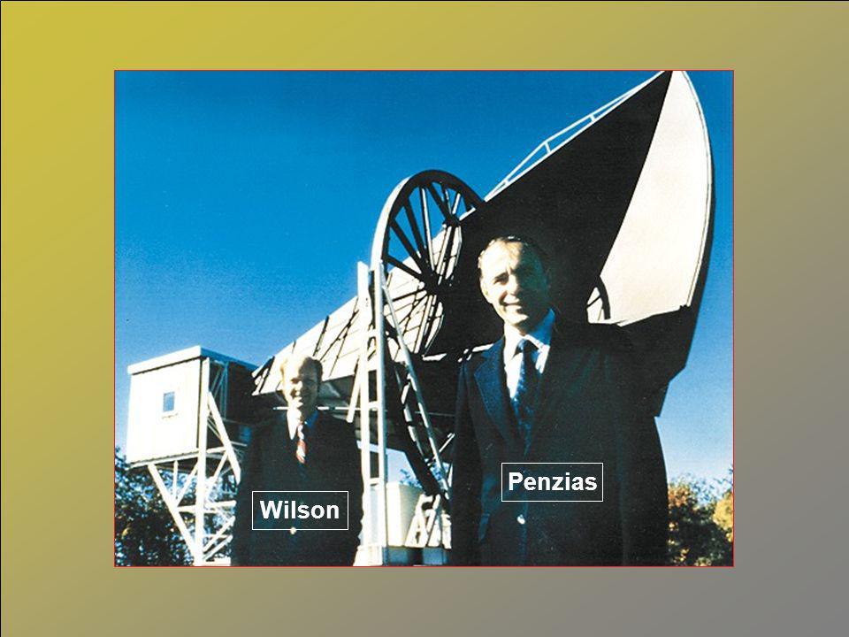 Nobelprijs 1978 voor Arno Penzias (°1933) en Robert Wilson (°1936): ontdekking in 1965 3 K kosmische achtergrondstraling (2,726 K)