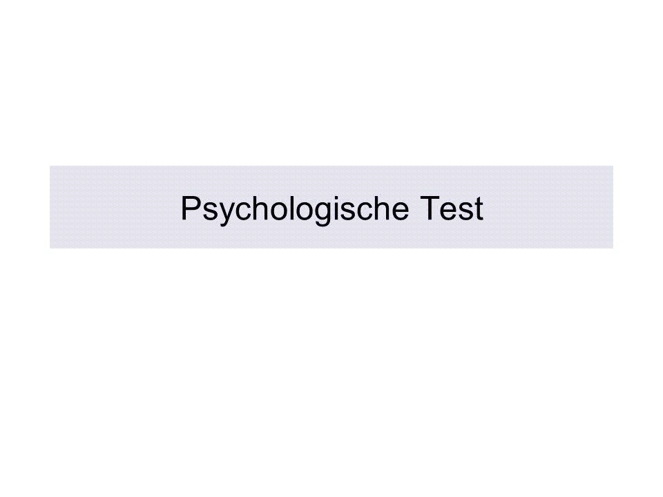 Psychologische Test