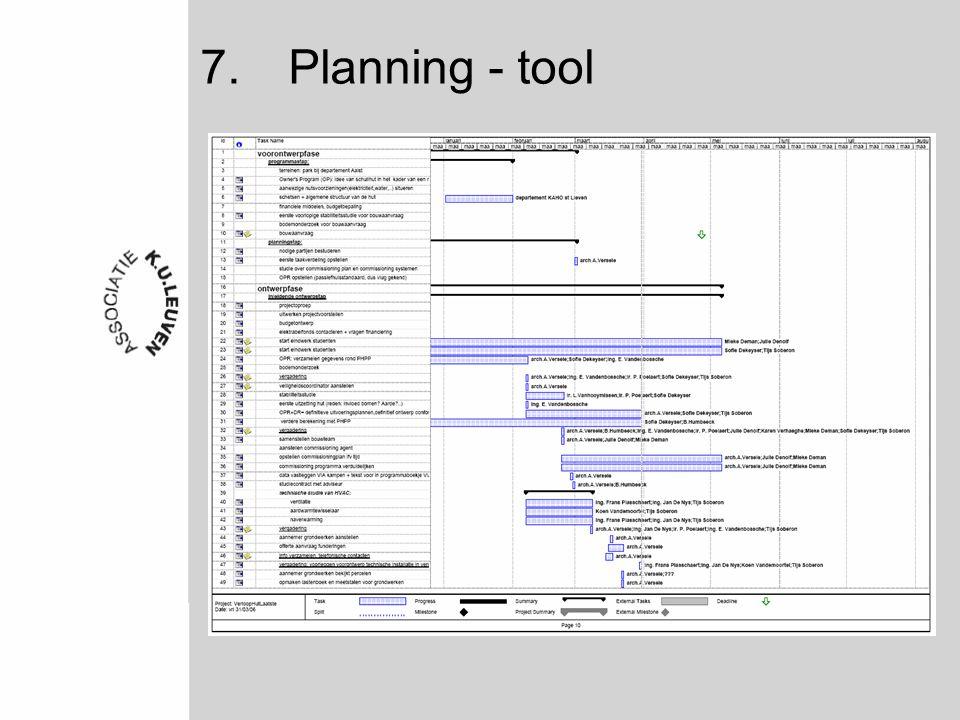7.Planning - tool