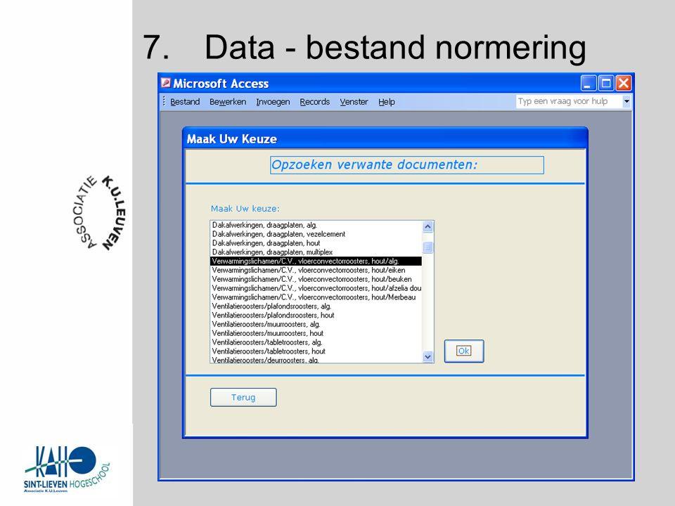 7.Data - bestand normering
