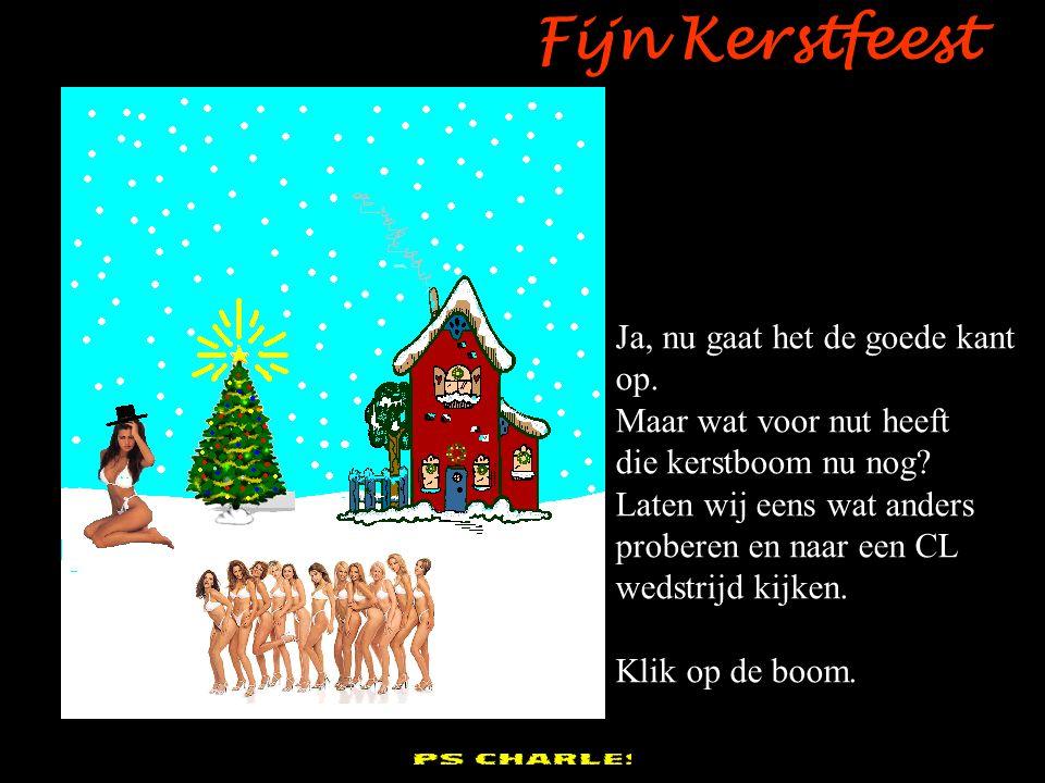 pps Charles Fijn Kerstfeest Zo, dat is veel beter, maar ik denk dat het NOG beter kan! Weg dan met de sneeuwman! Klik daarop!!!