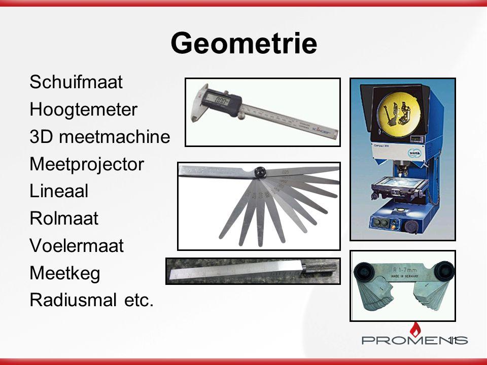 11 Geometrie Schuifmaat Hoogtemeter 3D meetmachine Meetprojector Lineaal Rolmaat Voelermaat Meetkeg Radiusmal etc.