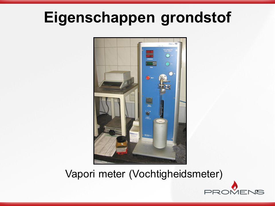 7 Eigenschappen grondstof Vapori meter (Vochtigheidsmeter)