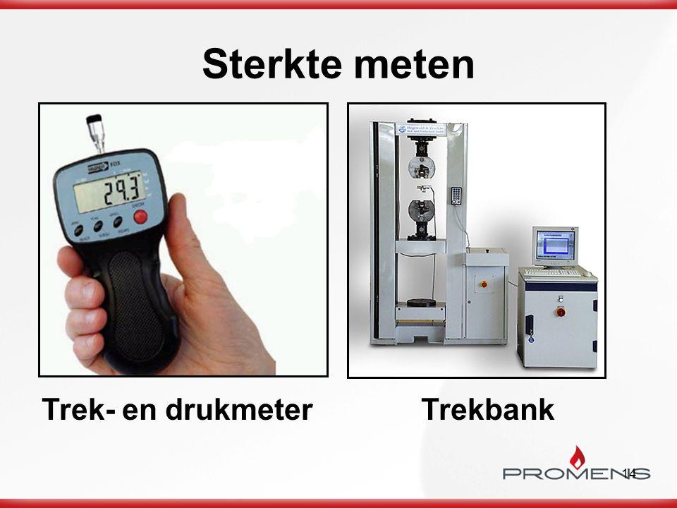 14 Sterkte meten Trek- en drukmeterTrekbank