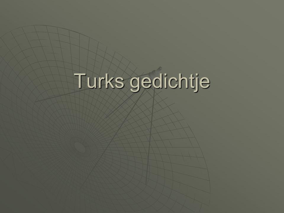 Turks gedichtje