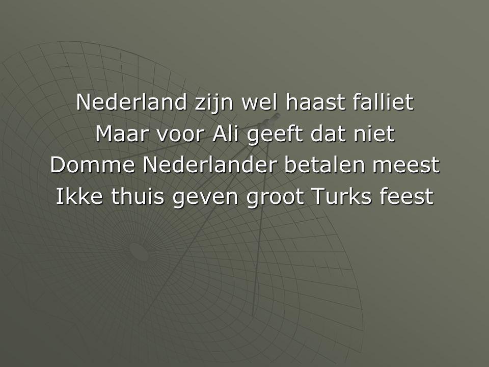 Nederland zijn wel haast falliet Maar voor Ali geeft dat niet Domme Nederlander betalen meest Ikke thuis geven groot Turks feest